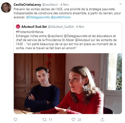 Tweet de la commissaire