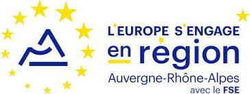Logo du Fond Social Européen en AURA